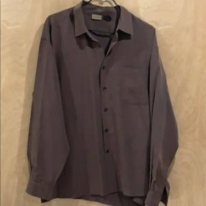 Axist Casual Button Down Brown Long Slv Size XL